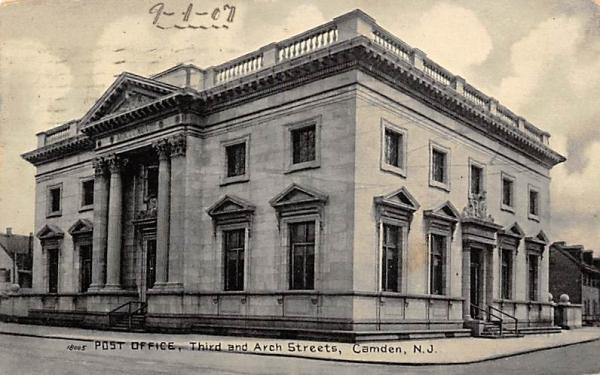 Post Office Camden, New Jersey Postcard