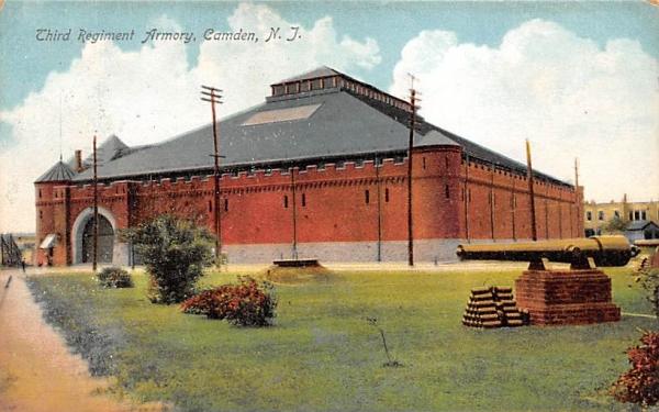 Third Regiment Armory Camden, New Jersey Postcard
