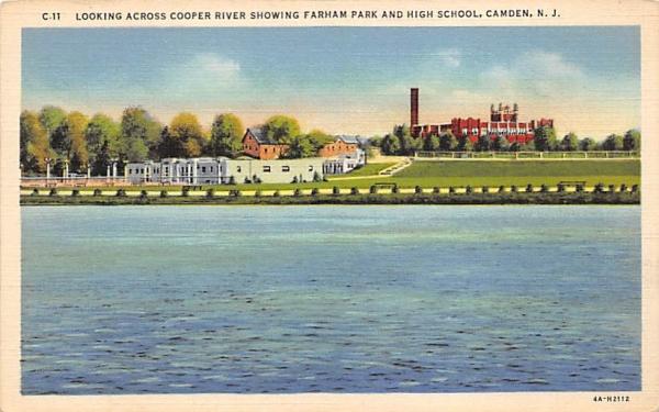Looking Across Cooper River Camden, New Jersey Postcard