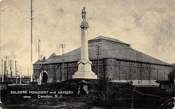 Soldiers' Monument and Armory Camden, New Jersey Postcard