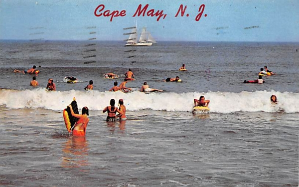 Enjoying the Surf Cape May, New Jersey Postcard