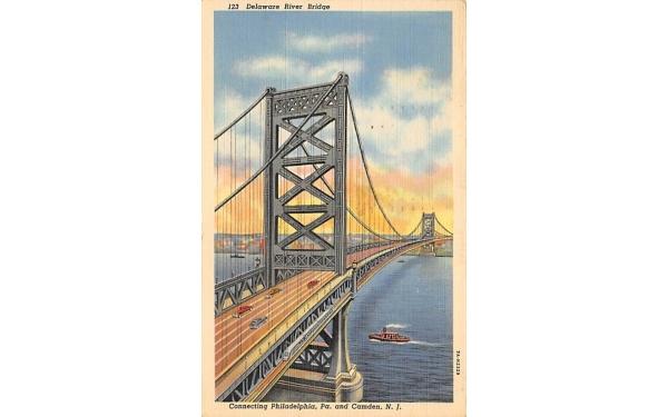 Philadelphia, PA. and Camden, N. J., USA New Jersey Postcard