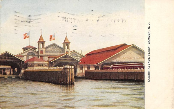 Kaighn Avenue Ferry Camden, New Jersey Postcard