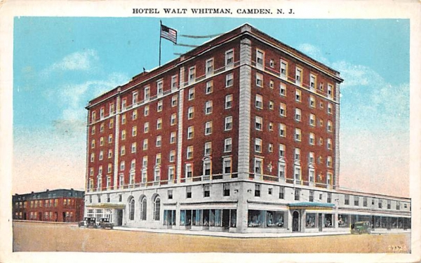 Hotel Walt Whitman Camden, New Jersey Postcard