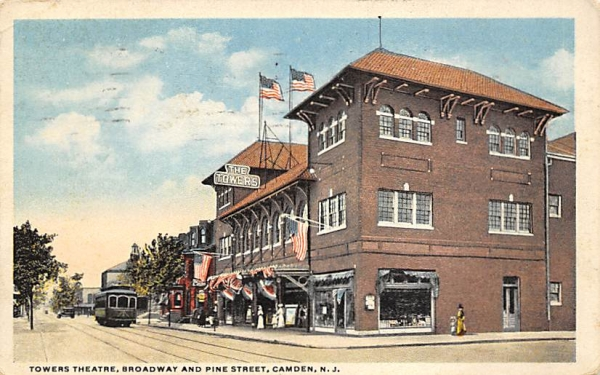 Towers Theatre Camden, New Jersey Postcard