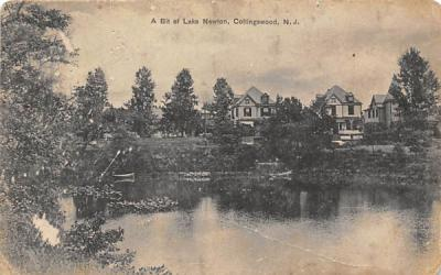 A Bit of Lake Newton Collingswood, New Jersey Postcard