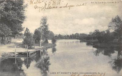 Lake at Knight's Park Collingswood, New Jersey Postcard