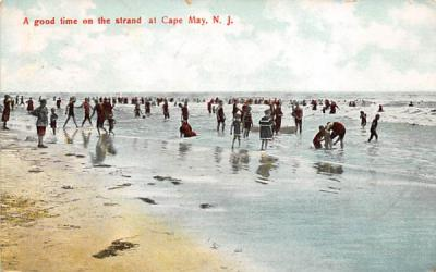 A good time on the strand Cape May, New Jersey Postcard