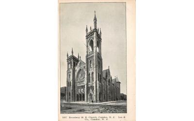 Broadway M. E. Church Camden, New Jersey Postcard