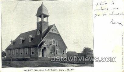 Baptist Church  - Daretown, New Jersey NJ Postcard