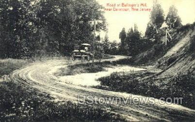 Road To Ballingers Mill  - Daretown, New Jersey NJ Postcard