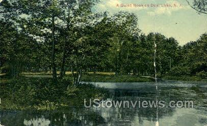 A Quiet Nook - Deal Lake, New Jersey NJ Postcard