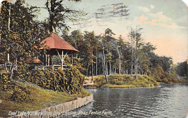 Ross Fenton Farm, View from Boat Landing Deal Lake, New Jersey Postcard