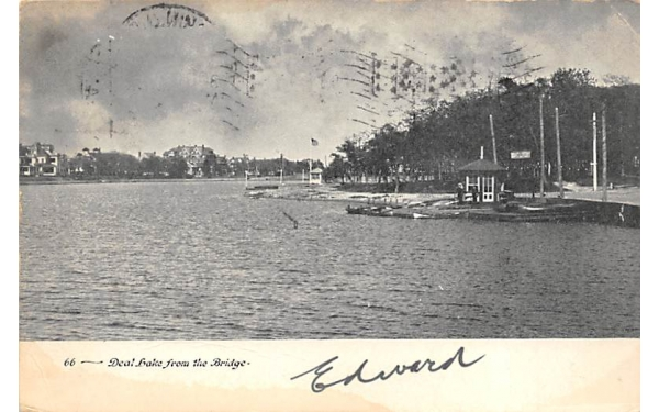 Deal Lake from the Bridge New Jersey Postcard