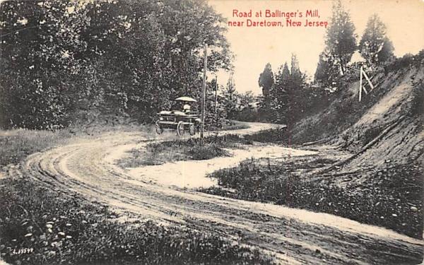 Raod at Ballinger's Mill Daretown, New Jersey Postcard
