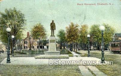 Monument  - Elizabeth, New Jersey NJ Postcard