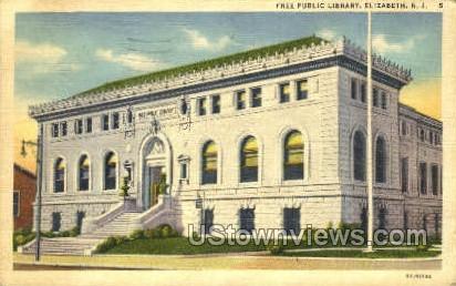 Free Public Library - Elizabeth, New Jersey NJ Postcard