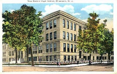 New Battin High School - Elizabeth, New Jersey NJ Postcard