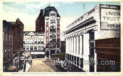 Pennsylvania Rr Station - Elizabeth, New Jersey NJ Postcard