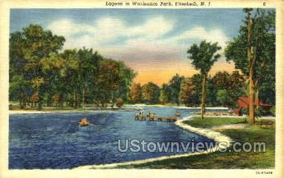 Lagoon In Warinaco Park  - Elizabeth, New Jersey NJ Postcard