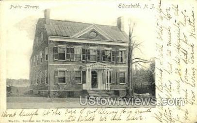 Public Library  - Elizabeth, New Jersey NJ Postcard