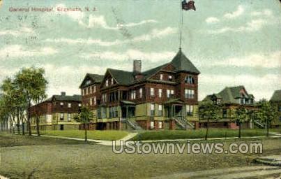 General Hospital  - Elizabeth, New Jersey NJ Postcard