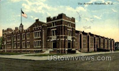 The Armory  - Elizabeth, New Jersey NJ Postcard