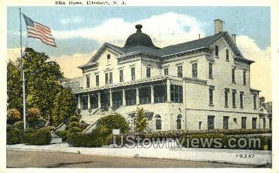 Elks Home  - Elizabeth, New Jersey NJ Postcard