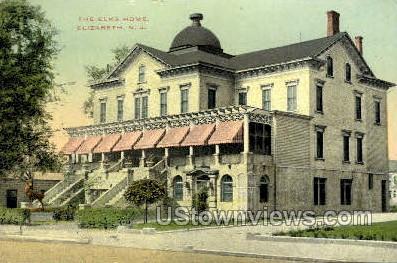 The Elks Home  - Elizabeth, New Jersey NJ Postcard