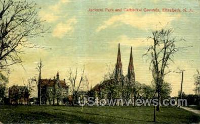 Jackson Park  - Elizabeth, New Jersey NJ Postcard