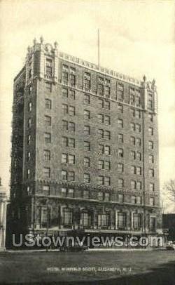 Hotel Winfield Scott  - Elizabeth, New Jersey NJ Postcard