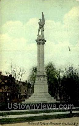 Soldiers And Sailors Monument  - Elizabeth, New Jersey NJ Postcard
