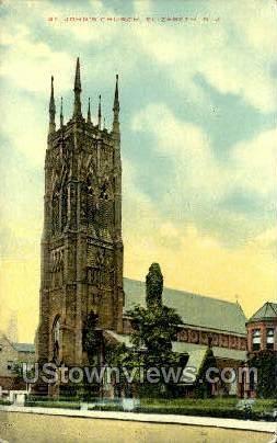 St Johns Church  - Elizabeth, New Jersey NJ Postcard