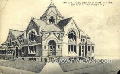 Park Ave Church - East Orange, New Jersey NJ Postcard
