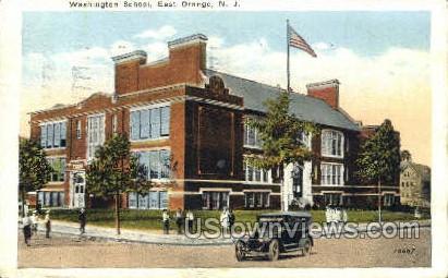 Washington School - East Orange, New Jersey NJ Postcard