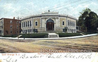 Free Public Library - East Orange, New Jersey NJ Postcard