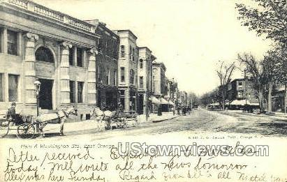 Main & Washington Streets - East Orange, New Jersey NJ Postcard