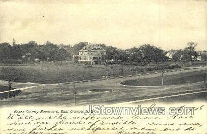 Essex County Boulevard - East Orange, New Jersey NJ Postcard