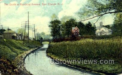 Brook At Hamburg Ave - East Orange, New Jersey NJ Postcard