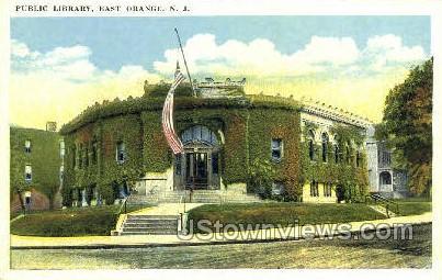 Public Library - East Orange, New Jersey NJ Postcard