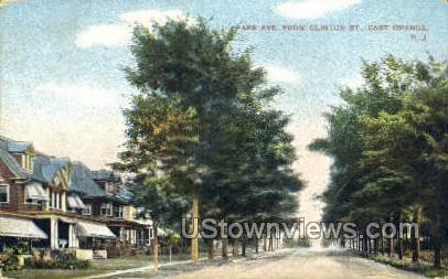 Park Ave From Clinton St.  - East Orange, New Jersey NJ Postcard