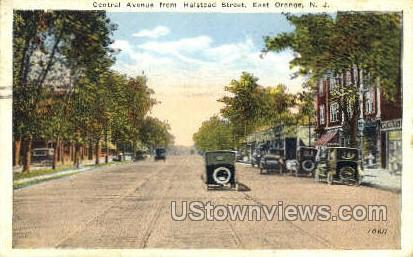 Central Ave From Halstead Street - East Orange, New Jersey NJ Postcard
