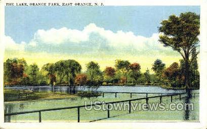 The Lake Orange Park - East Orange, New Jersey NJ Postcard
