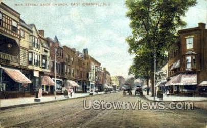 Main Street  - East Orange, New Jersey NJ Postcard