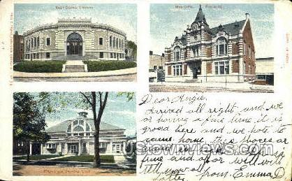 Library, Riding & Driving Club - East Orange, New Jersey NJ Postcard
