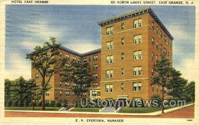 Hotel East Orange - New Jersey NJ Postcard