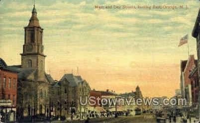 Main & Dey Streets - East Orange, New Jersey NJ Postcard