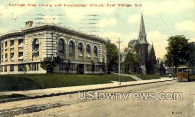 Carnegie Free Public Library  - East Orange, New Jersey NJ Postcard