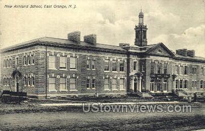 New Ashland School - East Orange, New Jersey NJ Postcard