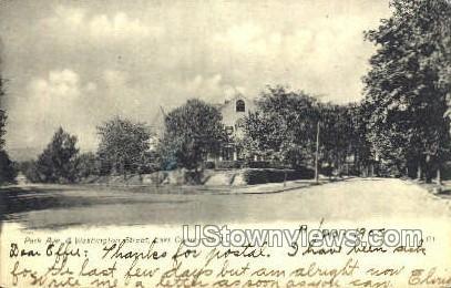 Park Ave & Washington Streets - East Orange, New Jersey NJ Postcard